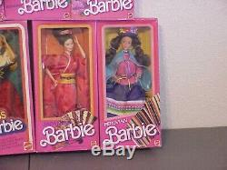 14 piece barbie doll lot Dolls of the World unused in original packaging