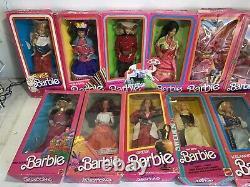 15 Barbies Dolls of the World Lot, Irish, Mexican, Japanese, Eskimo Etc 70-80s