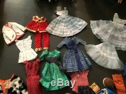1960's Huge Vintage Barbie Dolls Lot Clothes Accessories 1960's Free Shipping