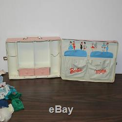 1960s Barbie Case with 3 Dolls and a Large Lot of Clothes, Barbie Midge Ken