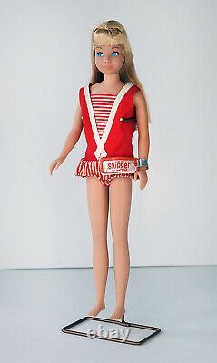 1963 Mib Mattel Blonde Skipper Barbie Doll Unplayed With Mint Box Vintage