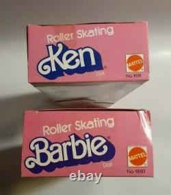 1980 ROLLER SKATING BARBIE & KEN Superstar Era LOT of 2