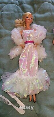 1980S BARBIE DOLL LOT Day To Night/Superhair/Crystal/Peaches n Cream Gently Used