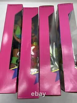 1991 Lot 4 Barbie, Ken, Teresa, Christie Rollerblade Flicker'n Flash NRFB C1