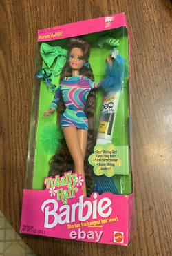 1991 Totally Hair Barbie Brunette Mattel
