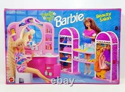 1992 Mattel Barbie Totally Hair Beauty Salon Playset No. 7637 NRFB