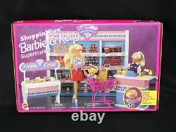 1996 Mattel Shoppin' Fun Barbie & Kelly Supermarket Playset 67507 NIB NewithSealed