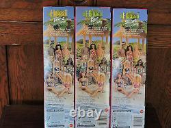 1998 Complete set of six Butterfly Art Barbie Dolls mint