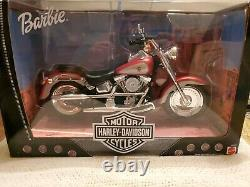 1999 Mattel Barbie Harley Davidson Fat Boy Motorcycle 26132 NRFB