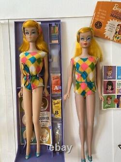 2 Vtg Barbie Color Magic Lot VHTF Stunning! All Original! Case Clothes Stand