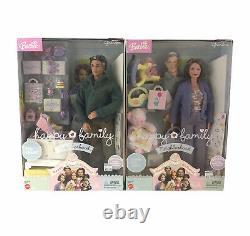 2003 Barbie Happy Family Neighborhood Grandma & Grandpa Dolls Grandparents Lot 2
