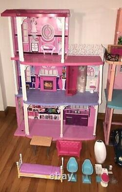 3 Barbie Dream Houses Malibu Mall Beetle Dolls Clothes Furn! Local Pick Up Only