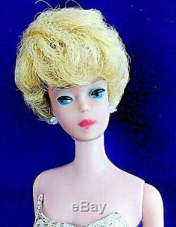 3 Vintage Barbie Bubblecut Lot Pale Blonde Fudge Brunette Ash Blonde + Case BIN