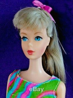 3 Vintg Mod TNT Barbie Lot Brownette Platinum Blond Hair Fair OSS Wig Case+ BIN