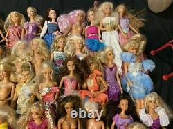 BARBIE DOLL HUGE LOT OF 55 DOLLS SOME With CLOTHES BARBIE KEN KELLY