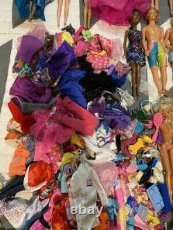 BARBIE DOLL HUGE LOT OF 78 DOLLS SOME With CLOTHES BARBIE KEN VINTAGE TO MODERN
