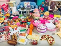 BARBIE Furniture TYCO Kitchen Littles HUGE LOT 100's of Items Vintage 90's