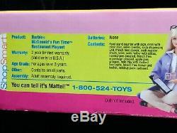 BARBIE MCDONALD'S FUN TIME RESTAURANT PLAYSET 2002 Rare Set 88811 NRFB & MINT