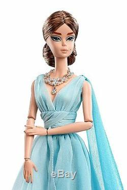 BFMC Blue Chiffon Ball Gown Silkstone Barbie Doll MINT