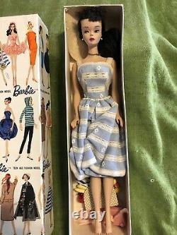 Barbie 1960 #3 Ponytail Stock #850 MINT Brunette NEVER out of Box Mattel Vintage