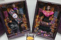 Barbie 2021 Ken & Female Dia De Los Muertos Day of The Dead Doll Bundle Set Lot