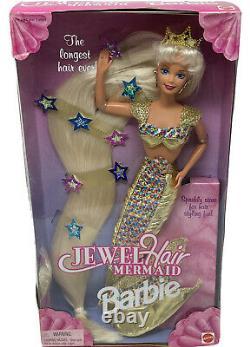 Barbie Doll 14586 Jewel Hair Mermaid Longest Hair Ever 1995 NRFB MINT Rare