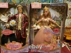 Barbie Doll Anneliese Princess and the Pauper prince DOMINICK Lot 2 VG
