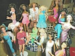 Barbie Doll Lot, Totally Hair AA, BRU, BL, 22 dolls 1990s HAIR! 100% Mattel