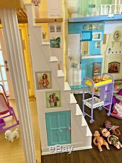 Barbie Doll Lot Vtg Dollhouse Happy Family Pregnant Midge Smart House Baby Food