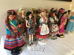 Barbie Dolls of The World Lot of 27 Collectors Edition Thai Norway Irish China