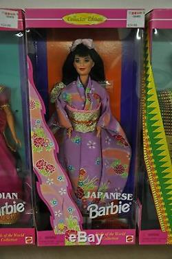 Barbie Dolls of the World LOT OF 7 ALL NEW NRFB NIB, Including Irish, Russian +