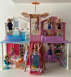 Barbie Estate 3 Story Town House Colourful and Bright Doll House Plus Dolls Toys