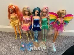 Barbie Fairytopia doll lot (Dandelion, Dahlia, Elina, Azura) USED