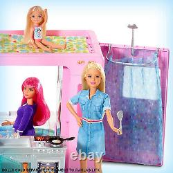 Barbie GHL93 3-in-1 DreamCamper Transforming Vehicle Play Set with 50 Accessories