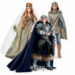 Barbie King of the Crystal Cave Faraway Forest wedding lot 2 Gold Label NRFB