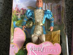 Barbie Rapunzel Doll Lot + Ken Prince Stefan Talking Doll, Musical Brush