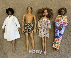Barbie and Ken Dolls All withClothes and Bling/ Accessories Lot