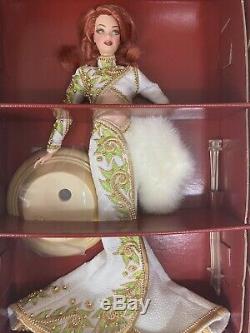 Bob Mackie Radiant Redhead Mint Barbie Doll & Sketch in Mattel