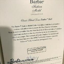 Classic Black Dress Silkstone Barbie Doll Fashion Model Collection Mint