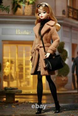Classic Camel Coat Silkstone Barbie. NRFB Gold Label Mint