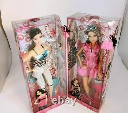 Fashion Fever Barbie Dolls Mattel Lot 2 Articulated Teresa 2008 Raquelle 2007