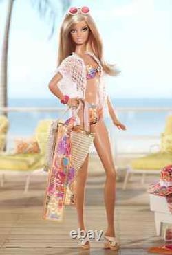Gold Label Designer Trina Turk Malibu Barbie Doll Bathing Suit Purse Scarf