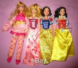 HUGE Disney Store Mattel Barbie Sized Rapunzel Aurora Frozen Jasmine Doll Lot A