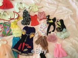 HUGE LOT 60's Vintage & Mod Barbie and friends Dolls Clothes Shoes Accessories