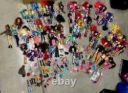 HUGE LOT Mattel Monster High, Ever After & Barbie Friends 66 Dolls & Accessories
