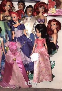 HUGE Mattel Disney Little Mermaid Sister Ariel Daughter Melody Barbie Lot RARE