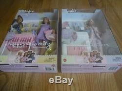 Happy Family Barbie Doll PREGNANT MIDGE withBaby & DOCTOR BARBIE 2 Sets NRFB