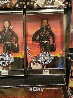 Harley Davidson Barbie Collection Lot Of 8 dolls/1 Motorcycles/ NIB