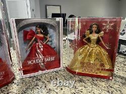 Holiday Barbie Doll Lot. 2017, 2018 30th Anniversary, 2019, 2020 New In Box NIB