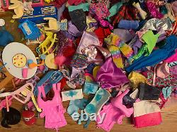 Huge Barbie Doll Lot Dolls Clothing Accessories Vintage To Modern